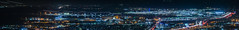 san francisco international ILS approach (pbo31) Tags: california bayarea nikon d810 color boury pbo31 august 2016 summer southsanfrancisco sanmateocounty signhillpark over view night dark black lightstream motion traffic 101 sanfranciscointernational airport sfo runway overlook panoramic large stitched panorama approach