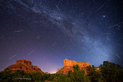 Wishes in the Sky (TreeRose Photography) Tags: pleiades stars nightsky astrophotography perseid meteor meteorites red rocks sedona arizona landscape scenery southwest milkyway shootingstars fallingstars long exposure trees