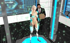 We Have The Technology To Rebuild Her (hausofgraphelle) Tags: hausofgraphelle secondlife sl avatar scifi fantasy cyborg prosthetics mech