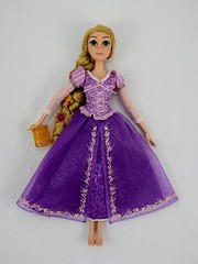 2016 Singing Rapunzel 16 Inch Doll - Disney Store Purchase - Deboxed - Lying Down - Full Front View #1 - Braid Behind Her (drj1828) Tags: us disneystore disneyparks singing rapunzel 16inch doll purchase online 2016 deboxing