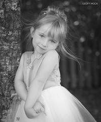 Untitled (Geoff Mock) Tags: girl child wedding flowergirl bw blackandwhite outdoor cute nikon nikon50mmf14 portrait