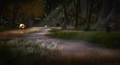 Pathway at Eclectica (Tripp Nitely) Tags: secondlife eclectica landscape nightscene scenic magical pathway