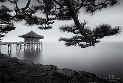 Embraced (Loscar Numael) Tags: longexposure japan pagoda distagon2815 zeiss singhray morslo decor blackandwhite seascape skancheli