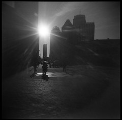 There is a light that never goes out (J.a.n_Photo&Films) Tags: boston holgaphotography holgaphoto ilfordhp5 lastlight copleysquare inthestreets