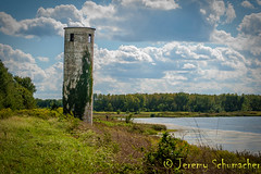 Old Tower (Jeremy Schumacher) Tags: old tower crumble architecture building river water vine landscape nikon d5000
