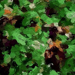 Ground cover abstracted into painted pattern (readerwalker) Tags: abstracts ipainting ipadart readerwalker
