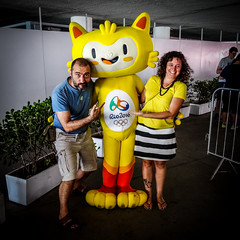 Vinicius and us (MastaBaba) Tags: 20160821 brazil brasil rio riodejaneiro olympics olympicgames summerolympics sports vinicius mascot babak natalia