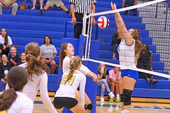 IMG_5540 (SJH Foto) Tags: girls volleyball high school lancaster mennonite pa pennsylvania team tween teen teenager varsity net battle spike block action shot jump midair