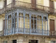 barcelona (gerben more) Tags: barcelona balcony blue building arch metal house spain