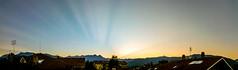 Strange sunset (nanison) Tags: tramonto sunset sky giaveno valsangone italia italy raggi luce light rays panoramica panoramic panorama pano