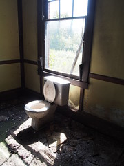 mooning the neighbors (1) (photography_isn't_terrorism) Tags: commode toilet mooning abandoned urbex