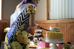 Cutting the Cake! (juliafrenchfrey) Tags: carlandnikiwed bridalshower wedding people person bride cake cakes snacks sweets candy