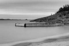 The pier (bnq.hendrix) Tags: pier mist fog wave landscape blackandwhite monochrome longexposure