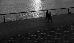 Bright in the dark [Explored on 25 Sep 2016] (edward.cheung) Tags: hongkong kwuntong kaitakcruiseterminal kowloon rx100iii people street walk sunset sony