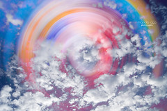 spinning rainbow (mariola aga) Tags: rainbow sky clouds spinning pastel colors art thegalaxy