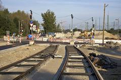 Blick zurck zur Wendeschleife (Frederik Buchleitner) Tags: baustelle bergamlaim haidhausen linie25 mvg munich mnchen neubaustrecke steinhausen strasenbahn streetcar tram trambahn