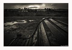 Narroways Hill in January (zolaczakl ( 2 million views, thanks everyone)) Tags: bristol bristolinmonochrome mono monochrome blackandwhitebristol blackandwhite narrowayshill stwerburghs bench rain nikond7100 sigma1835mmf18dchsmlens uk england southwest january 2016