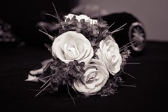 jcphoto-2474 (EnJANEer) Tags: bouquet flower wedding bw tonal