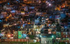 Hidden views (karinavera) Tags: travel nikond5300 urban night argentina villa31 hidden retiro shantytown buenosaires aerial longexposure city cityscape
