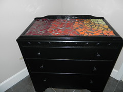 table rainbow mosaic chest fiestaware drawers mosaicfurniture sunburstmosaic threedrawerchest mosaicchest blackthreedrawerchest fiestawaremosaic rainbowmosaictable juliecriswellartistsacramento