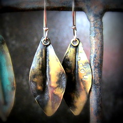 (aka maire dodd) Tags: leaves hope leaf jewelry earrings brass patina maryjanedodd