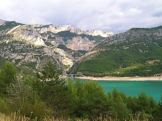 Provence-Gorges du Verdon et lac de Sainte Croix.