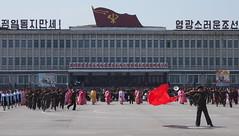 Mass dance practice in Wonsan for 100th birthday of Kim il Sung (mulderlis) Tags: northkorea pyongyang dprk noordkorea