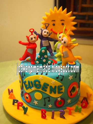 Admirable Teletubbies Birthday Cake A Photo On Flickriver Birthday Cards Printable Nowaargucafe Filternl