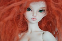 I missed her so much!  {{EXPLORED!}} (emmr_ {bjd}) Tags: bjd fl redhair fairyland msd ws mnf minifee rheia