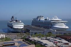 Pier 35 Two Cruise Ships 5-2012 (daver6sf@yahoo.com) Tags: cruiseship sanf
