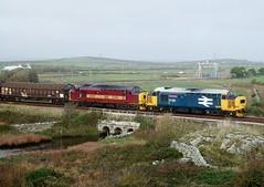 Matching Pair (darkprince66 (Tug Chasing Super Hero :D)) Tags: tractor 37 ee dbs northwales britishrailways englishelectric ews class37 englishwelshandscottish dbschenker