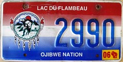 Lac Du Flambeau Ojibwe Nation License Plate (Suko's License Plates) Tags: plaque native indian nation band plate tribal licenseplate license tribe placa patente targa matricula kennzeichen lacduflambeau ojibwe targhe numbertag nummerschild nativeamericanindians plaqueimmatriculation triballicenseplates indiantribeslicenseplates lacduflambeauojibwe