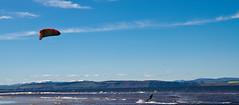 Para Surfer Nairn Beach (Superali007) Tags: blue sky beach water canon scotland highlands scottish surfing 7d parasurfing canon7d