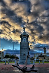 Angel of Semaphore (Mark-Cooper-Photography) Tags: monument angel clouds sunrise canon south australia anchor adelaide sa semaphore efs1022mm 550d t2i eos550d markcooperphotography