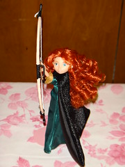 Adventure Merida Mini Doll Aiming High - Full Front View #1 (drj1828) Tags: inch doll princess 5 mini disney adventure merida bow pixar brave arrow aiming