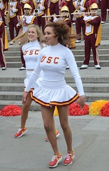 Img284888nx2 (veryamateurish) Tags: woman london girl cheerleaders band trafalgarsquare usc universityofsoutherncalifornia miniskirt