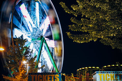 Flash County Fair in Woburn (PK's Photo Diary) Tags: county summer usa motion blur wheel ma fun tickets lights long slow circus fair ferris shutter woburn expsure