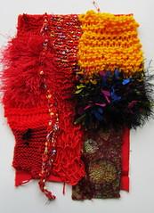 Textured backgound (scrappy annie) Tags: mixedmedia crochet workinprogress knit wip velvet knitted fiberart textileart textileartist fibreart fiberartist