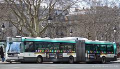 Dans les rues Parisiennes (Amsterdam RAIL) Tags: paris bus spring publictransport autobus printemps parijs agora ratp citybus openbaarvervoer voorjaar stadsbus irisbus stadtbus parisi busbus geledebus ligne91 irisbusagora ratp1781 gelenkbusgelede articuléarticulated