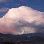 Star Trails Over Twilight Thunderstorm