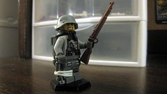 German Soldier (The Brick Guy) Tags: soldier lego rifle worldwarii german printing backpack custom detailed minifigure catsy kar98 brickarms stalhelm amazingarmory tinytactical hexstand
