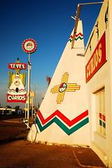 TeePee Curios (thedefiningmoment) Tags: newmexico sign route66 nikon neon souvenir teepee tucumcari wigwam motherroad d80 teepeecurios