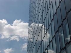 Düsseldorf Hyatt Hotel (j-u-l-i-a-n2012) Tags: city blue sky cloud sun house window glass lines architecture clouds germany deutschland hotel town fenster himmel wolke wolken haus stadt highrise architektur nrw hyatt blau dusseldorf düsseldorf rhine sonne rhein spiegelung glas nord hochhaus westfalen linien westphalia schmollian