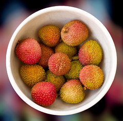 It's Lychee Time! (Kartik J) Tags: california usa macro closeup fruit 50mm minolta sony dslr irvine lychee f17 a500 litchichinensis