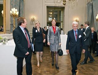 Paul Hofheinz, Ann Mettler, Helle Thorning-Schmidt and Paul Demaret