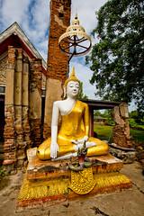 Wat Phu Khao Thong  (olvwu | ) Tags: thailand temple ancient buddhist historic ayutthaya historicsite historicarchitecture jungpangwu oliverwu oliverjpwu watphukhaothong olvwu ayutthayahistoricalpark jungpang ayutthayacity