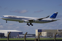 9K-ANC / Airbus A340-313 / 101 / Kuwait Airways (A.J. Carroll) Tags: london nc heathrow 101 airbus lhr 343 a340300 egll kuwaitairways iata a340313 27l 9kanc meskan kuwaitairwayscom