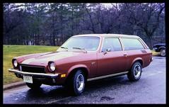 Chevy Vega GT 1973 Car (Philip Osborne Photography) Tags: chevy vega burgandy wagon gt 1973 aluminumengine ektachromeslide davischevroletlexingtonnctag