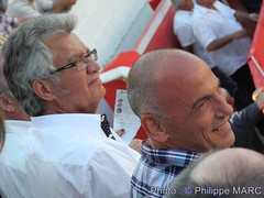 Bernard REYNES et Michel PECOUT (Philippe MARC - Photographies ARles - MEDIACAM13) Tags: feria corrida chateaurenard bernardreynes michelpecout