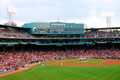 (kdem) Tags: world city trip travel sky usa green boston clouds america ma lights us audience baseball stadium massachusetts redsox fans fenway catcher mass fenwaypark pitcher bostonma turf beantown basemen bostonmass nikond40 nikon40
